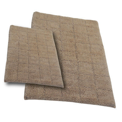 Textile Decor Castle 2 Piece 100% Cotton Summer Tile Spray Latex Bath Rug Set, 34 H X 21 W and 40 H X 24 W