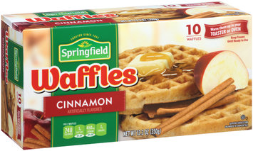 Springfield Cinnamon Frozen Waffles 12.3 oz. Box