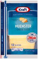 Kraft Muenster Cheese Slices 12 ct ZIP-PAK®