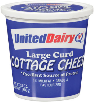 United Dairy® Large Curd Cottage Cheese 24 oz Tub