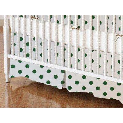 Stwd Polka Dots Crib Skirt Color: Hunter Green