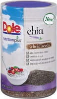 Dole® Nutrition Plus™ Whole Seeds Chia 16 oz. Plastic Jar