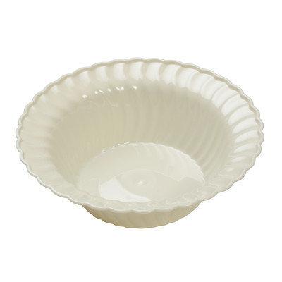 Fineline Settings, Inc Flairware Round Rippled Disposable Plastic 5 oz. Dessert Bowl (180/Case), Bone