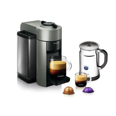Nespresso VertuoLine Grey Evoluo Bundle With Aeroccino