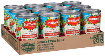Del Monte™ Chunky Garlic & Herb Pasta Sauce 12-24 oz. Cans