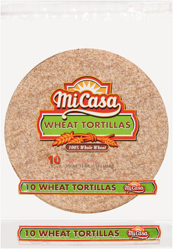 Mi Casa® Wheat Tortillas 10 ct Bag