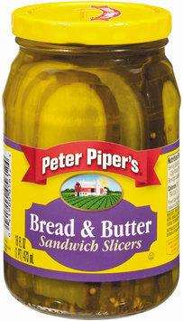 Peter Piper's Bread & Butter Sandwich Slicers Pickles 16 Oz Jar