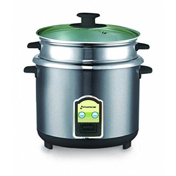 Gforce Stainless Steel Rice Cooker Size: 6 Cups