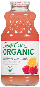 Santa Cruz Raspberry Lemonade Flavored Beverage 32 Oz Glass Bottle