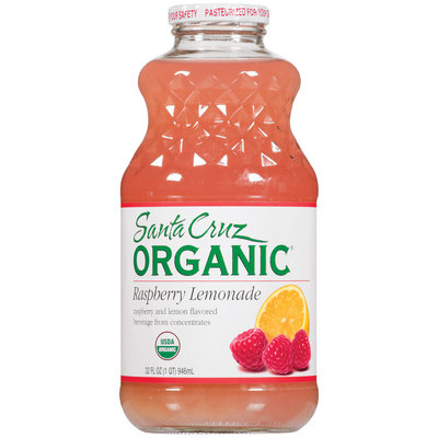 Santa Cruz Raspberry Lemonade Flavored Beverage 32 Oz Glass Bottle
