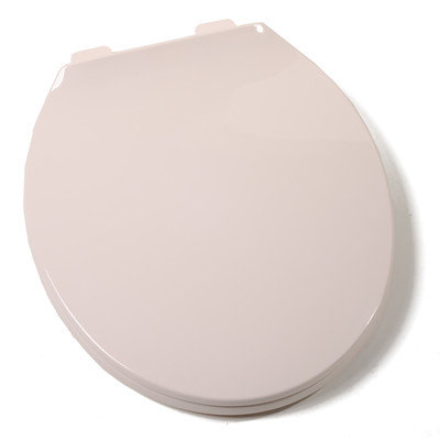 Findingking Deluxe Plastic Round Contemporary Toilet Seat - Finish: Fawn Beige