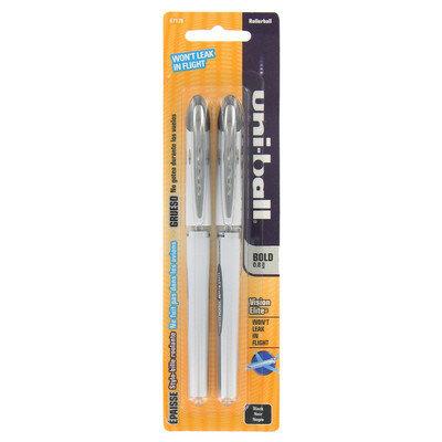 Sanford Black 0.8mm Vision Elite Uni-Ball Pen (Set of 6)
