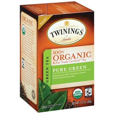 Twinings of London Organic Pure Green 1.27 Oz Tea Bags 20 Ct Box