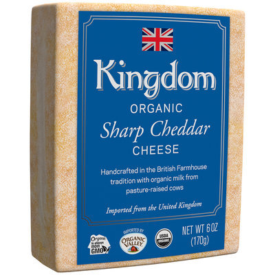 Kingdom Organic Sharp Cheddar Cheese 6 oz. Loaf