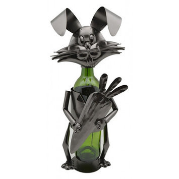 Three Star Rabbit with Carrot 1 Bottle Tabletop Wine Rack