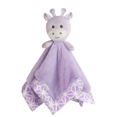 COCALO Lavender Giraffe Plush Security Blanket
