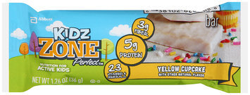 Kids Zone Perfect™ Yellow Cupcake Nutrition Bar