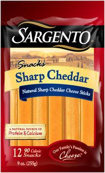Sargento® Snacks Sharp Cheddar Cheese Sticks 12 ct Bag