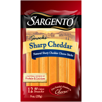 Sargento® Snacks Sharp Cheddar Cheese Sticks 12 ct Bag