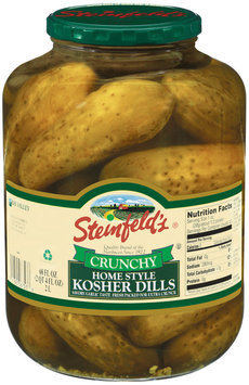 Steinfeld's Crunchy Home Style Kosher Dills Pickles 68 Oz Jar