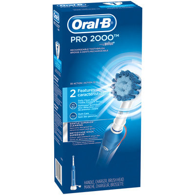 PRO Sensitive Clean Oral-B Pro 2000 Power Rechargeable Toothbrush powered by Braun