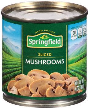 Springfield® Sliced Mushrooms 4 oz. Can