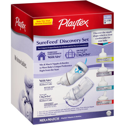 Playtex® SureFeed™ Discovery Set Nipples & Bottles Box