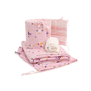 Ecbi 3 Piece Crib Bedding Set