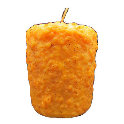 Starhollowcandleco Tangerine Peels Pillar Candle Size: Tall Fatty 6.5