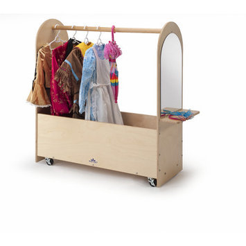 Whitney Bros Whitney Brothers Portable Dress-Up Rack, Natural UV - WB0475