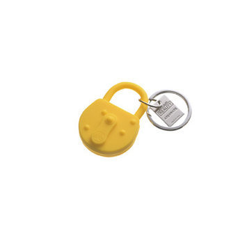 Areaware Lock Keychain Color: Yellow