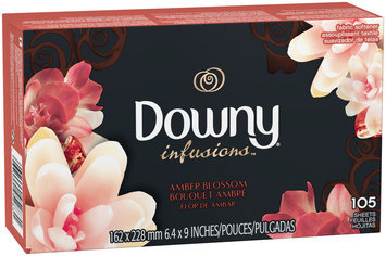 Infusions Ultra Downy® Infusions™ Amber Blossom™ Fabric Softener Sheets 105 count