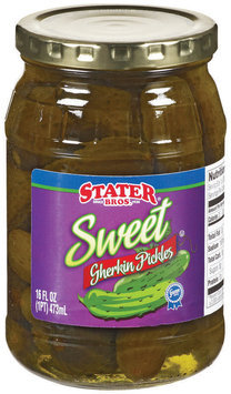 Stater Bros. Sweet Gherkin Pickles 16 Fl Oz Jar