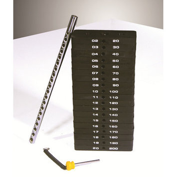 Powertec Inc. 194 lbs Weight Stack Set