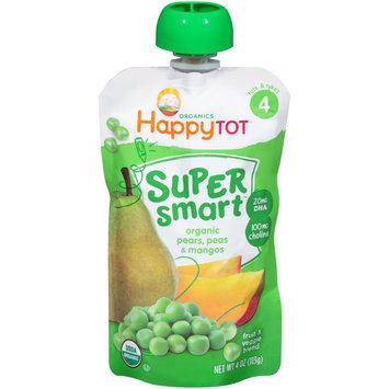 Happy Tot® Organics Super Smart™ Organic Pears, Peas & Mangos Fruit & Veggie Blend  4 oz. Pouch
