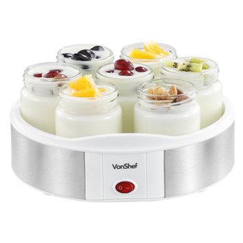 Von Shef 1.53-qt. Digital Yogurt Maker with 7 Jars