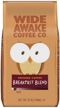Wide Awake Coffee Company Breakfast Blend Light Ground Coffee 12 Oz Stand Up Bag