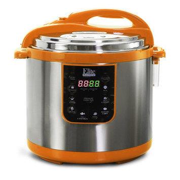 Elite By Maxi-matic 10-Quart Electric Pressure Cooker Color: Orange