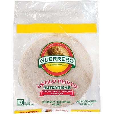 Guerrero® Estilo Pepito Flour Tortillas 10 ct Bag