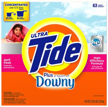 Tide Ultra Plus Touch of Downy April Fresh Concentrated HE Powder Laundry Detergent