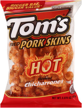 Tom's® Fried Pork Skins Hot 2.38 oz. Bag