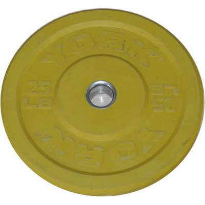 York Barbell Training Bumper Plate Weight: 25 lbs