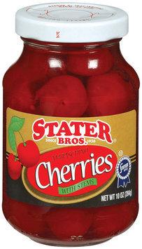Stater Bros. Maraschino W/Stems Cherries 10 Oz Jar