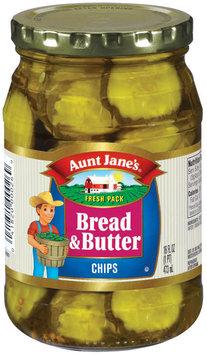 Aunt Jane's Bread & Butter Chips Pickles 16 Oz Jar