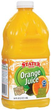 Stater Bros.  100% Orange Juice 64 Fl Oz Plastic Container