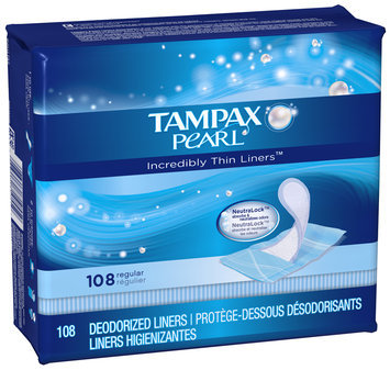 Tampax Pearl Incredibly Thin Liners™ Regular Pads 108 ct Carton