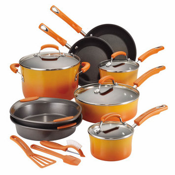 Meyer Corporation Rachael Ray 15-pc. Nonstick Porcelain Enamel Cookware Set