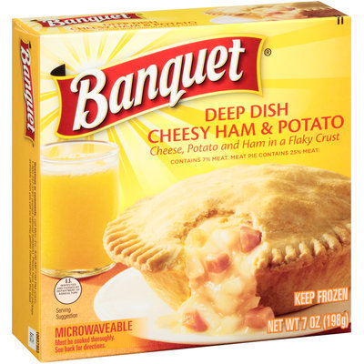 Banquet® Deep Dish Cheesy Ham & Potato 7 oz. Box