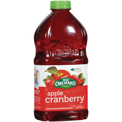OLD ORCHARD Apple Cranberry Bottled Juice Cocktail 64 FL OZ PLASTIC BOTTLE
