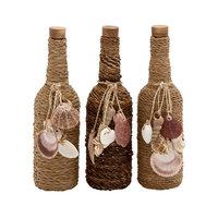 Benzara 83817 Glass Stopper Bottle 3 Assorted